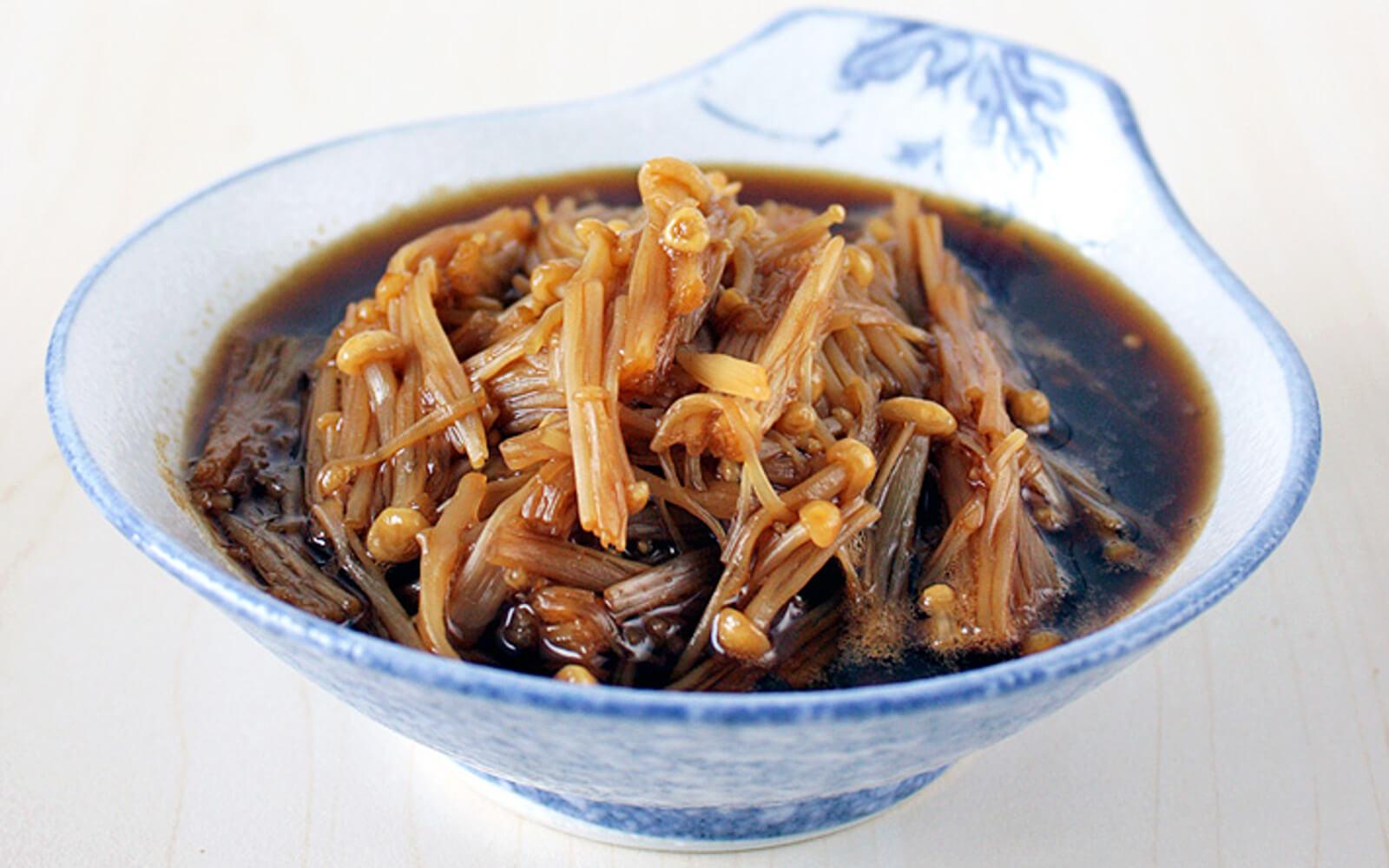 طرز پخت قارچ انوکی